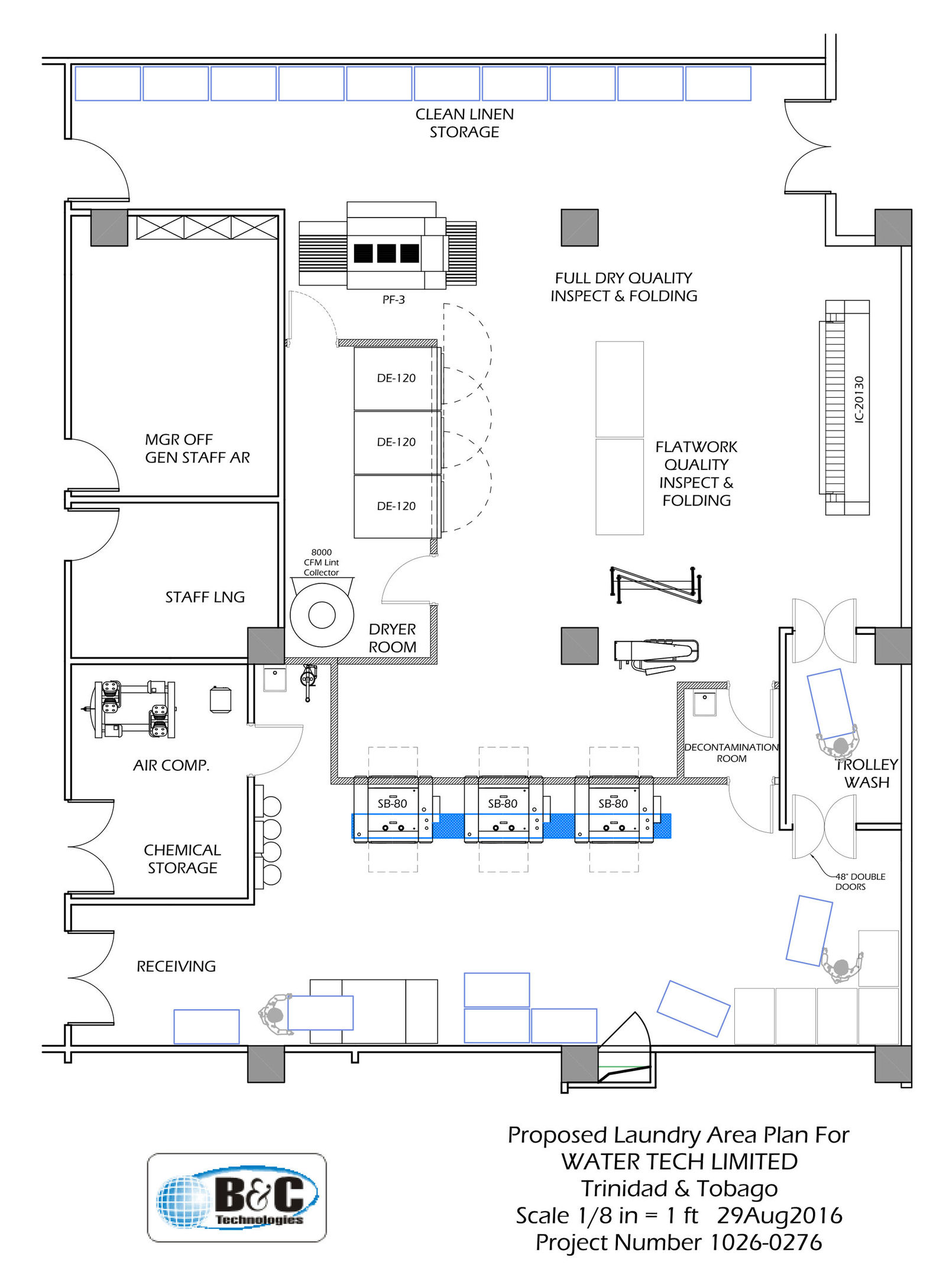 Hotel Laundry Room Plan