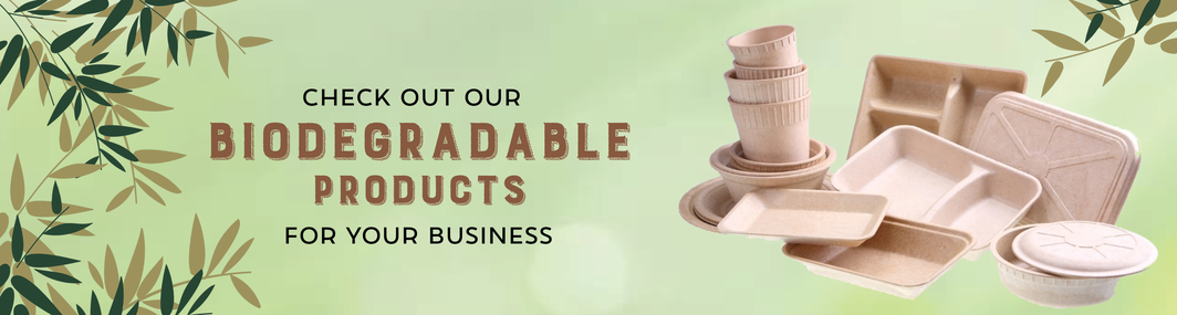 Check out our Biodegradable Products for your business