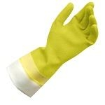 LATEX GLOVES FLOCK LINED LARGE 15″ YELLOW TBD