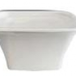 FLAT LID FOR SQUARE BOWL 24-40oz  50EA/PACK
